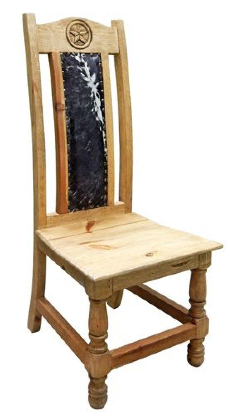 031ch1001tx in by million dollar rustic in cowhide chair w star