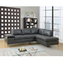 F6520 / Cat.19.p27- 2PCS SECTIONAL GREY