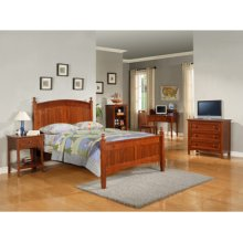 "Parker ""Cinnamon"" Full Bedroom - 360-045 Full Bed, 360-018 3-Drawer Dresser, 360-028 Nightstand"