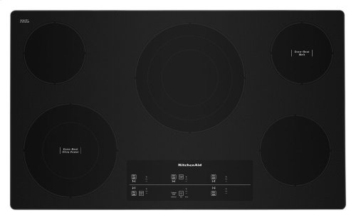 "36"" Electric Cooktop with 5 Elements and Touch-Activated Controls - Stainless Steel"