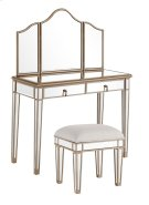"Vanity Table 42 in. x 18 in. x 31 in. and Mirror 39 in. x 24 in. and Chair 18 in. x 14 in. x 18 in."""""" Product Image"