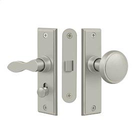 Storm Door Latch, Square, Mortise Lock - Brushed Nickel
