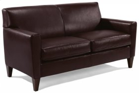 Digby Leather Two-Cushion Sofa