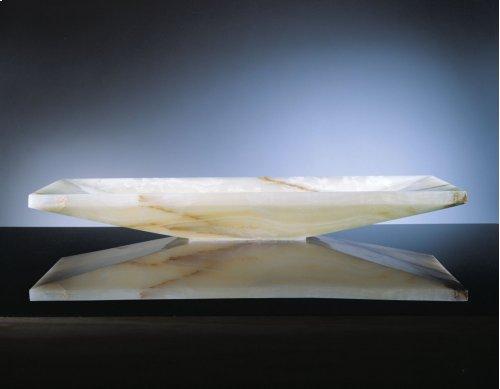 Verona Vessel Sink, 36 White Onyx