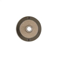 Round Flute Doorbell Button Silicon Bronze Brushed with Basic