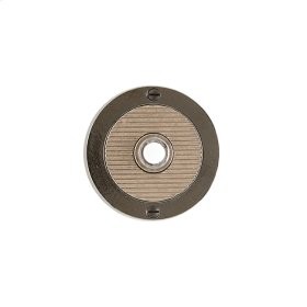 Round Flute Doorbell Button Silicon Bronze Brushed with White Leather