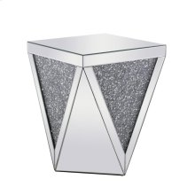 18.5 inch Crystal End Table Silver Royal Cut Crystal