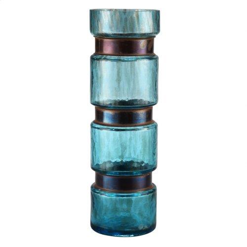 Ring Vase Large Blue