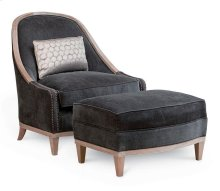 Cityscapes Cooper Slipper Chair Ottoman - Pewter
