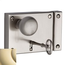 Lifetime Polished Brass 5701 Small Horizontal Rim Lock