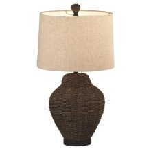 Woven Rattan Rope Table Lamp. 100W Max