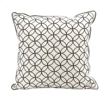 Essentials Black Embroidered Pillow