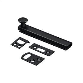 "4"" Surface Bolt, Concealed Screw, HD - Paint Black"