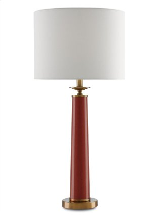 Rhyme Table Lamp, Red - 32.75h