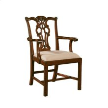 CARVED MAHOGANY CHIPPENDALE ARMCHAI