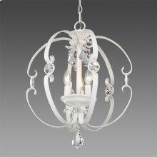 Ella 3 Light Pendant in French White