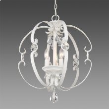 Ella 3 Light Pendant in French White