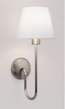 FLUORESCENT CYGNUS SINGLE SCONCE - BRUSHED NICKEL
