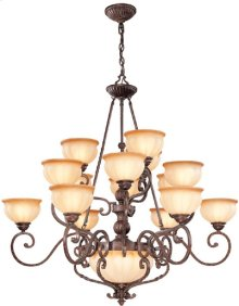 3/6/6/2 Ceiling Lamp - Ant. Bronze/l. Amber Glass, A 60wx17