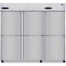 Freezer, Three Section Upright, Half Stainless Door