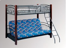 Oak & Iron Futon Bunkbed