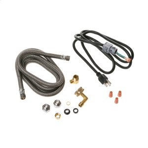 Universal dishwasher installation kit -