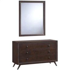 Tracy Dresser and Mirror in Cappuccino Product Image