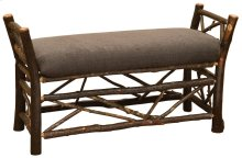Upholstered Bedside Bench Twig accent, Standard Fabric