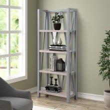 Americana Modern Dove Etagere Bookcase