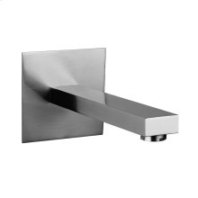 "Wall-mounted bath spout Projection 6-15/16"" 1/2"" connections Spout max flow rate 5"