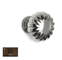Model 119, Round Cabinet Knob, Brushed Antique Brass - California