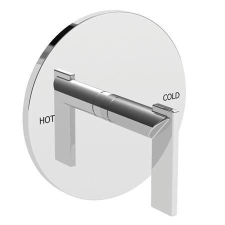 Polished-Chrome Balanced Pressure Shower Trim Plate with Handle