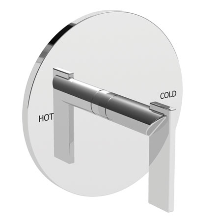 Polished-Chrome Balanced Pressure Shower Trim Plate with Handle