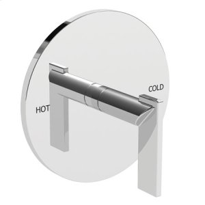 Polished-Chrome Balanced Pressure Shower Trim Plate with Handle Product Image