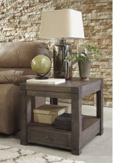 Timber and Tanning Rectangular End Table