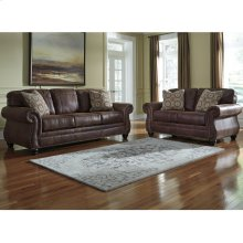 Benchcraft Breville Living Room Set in Espresso Faux Leather [FBC-8009SET-ESP-GG]