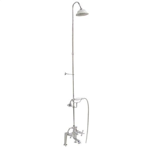 Tub/Shower Converto Unit - Elephant Spout, Riser, Showerhead - Cross / Polished Chrome