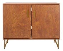 Pine 2 Door Modular TV Unit - Natural / Gold