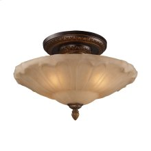 Restoration 4-Lt Semi-Flush in Ant Golden Bronze