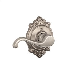 Callington Lever with Brookshire Trim Non-Turning Lock - Satin Nickel