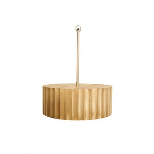 Aged Brass Clad Ceiling Fixture