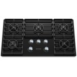 36-Inch 5 Burner Gas Cooktop, Architect(r) Series Ii - Black
