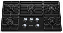 KitchenAid 36-Inch 5 Burner Gas Cooktop, Architect® Series II - Black