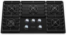 KitchenAid 36-Inch 5 Burner Gas Cooktop, Architect® Series II - Black