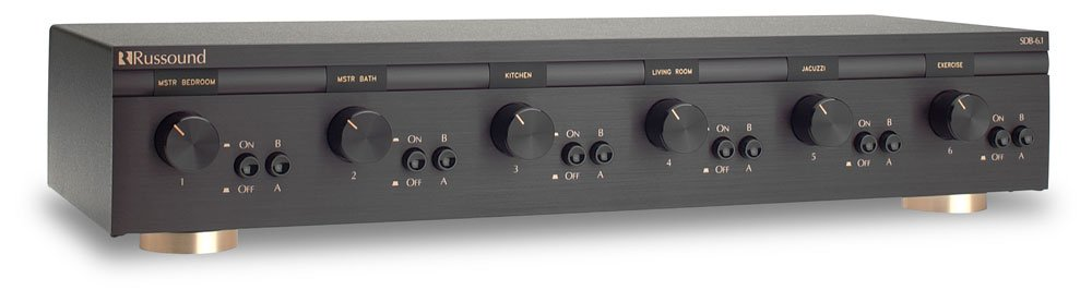 SDB-6.1 6 Pair, Dual Source Speaker Selectors with Volume Control
