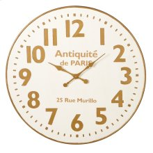 White & Gold Wall Clock.