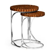 Feather Inlay Nest of Tables