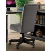 Perspectives - Upholstered Back Desk Chair - Ebonized Acacia Finish Product Image