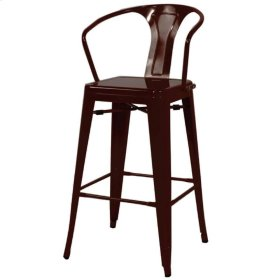 Metropolis Metal Bar Stool, Black