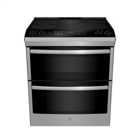 Slide-In Front Control, Double Oven, 6.7 cu ft (2.4/4.3) Self Clean, True Convection Oven